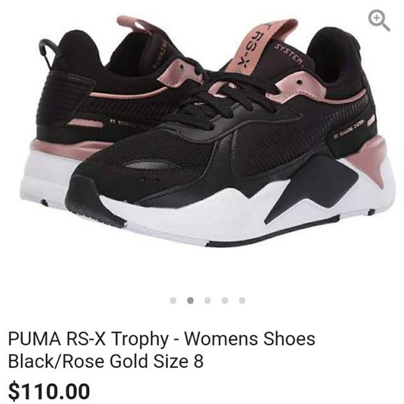 979c5528094 Puma rs x trophy rose gold black size 8 worn once.  M 5c6b59332beb79388007ae72